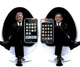 Apple Samsung Men in Black