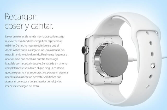 Apple Watch sistema carga