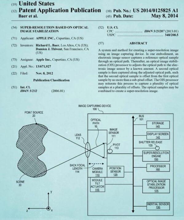 Patente estabilizador Apple
