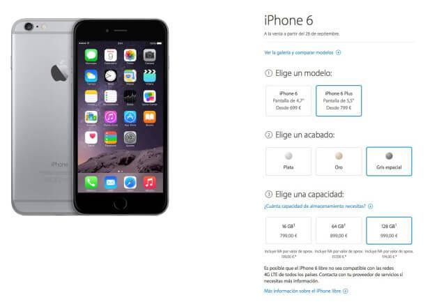 Precios iPhone 6