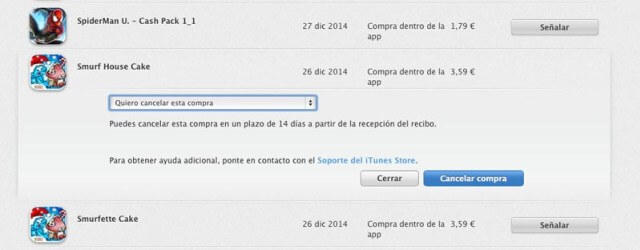 Reembolso Apps Apple