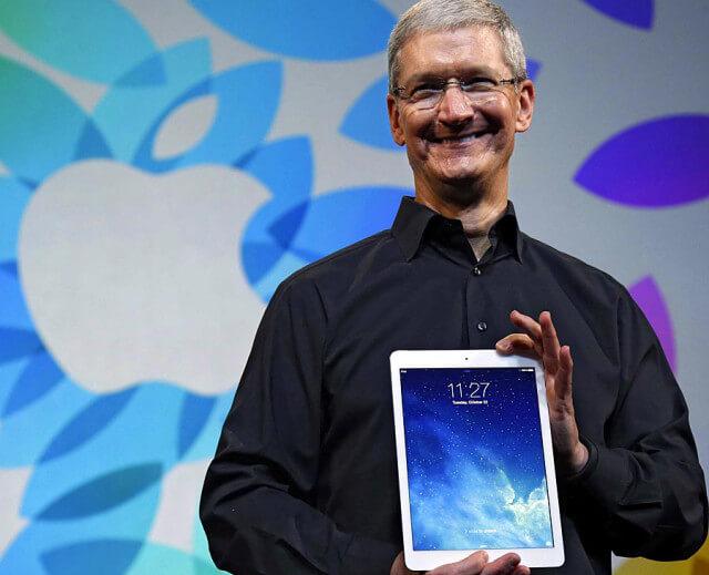 Tim Cook iPad Air presentacion