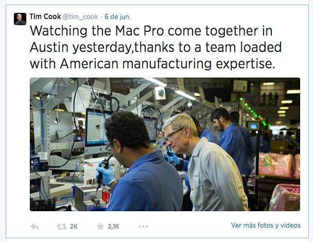Tim Cook tweet con Windows