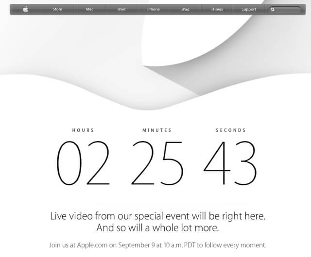 Web Apple keynote