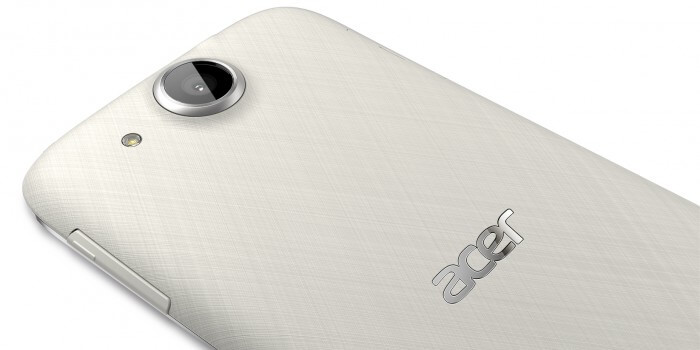 acer Liquid Jade S Lunar White Back