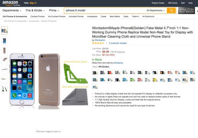 replica del iphone6 en amazon