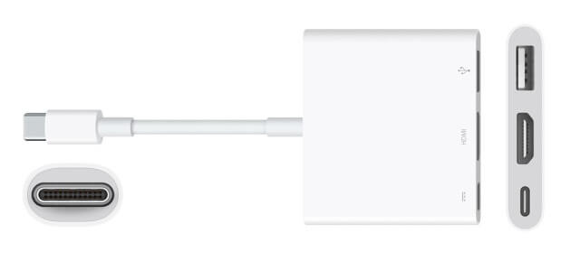 Adaptador USB C apple