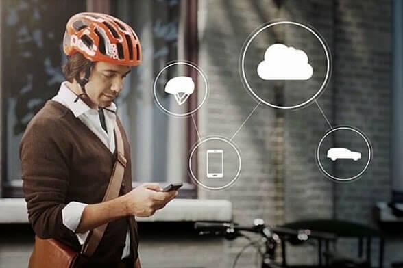 Casco para proteger a ciclistas
