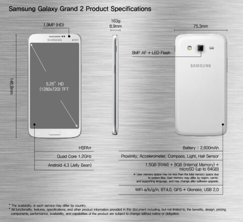 Galaxy-Grand-2-Specs