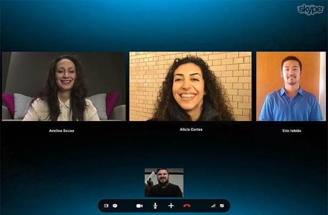 Llamada en grupo Skype
