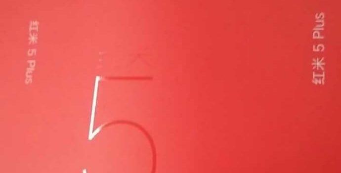 Redmi Note 5 Plus caja