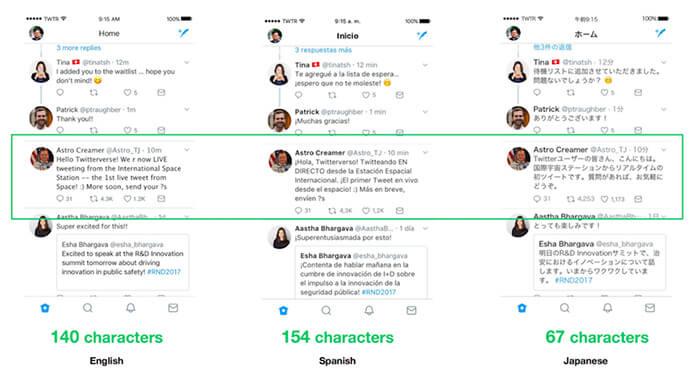 diferencias idioma twitter
