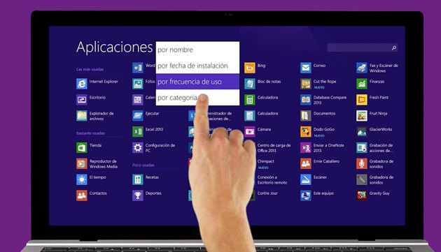 pantalla tactil windows 8