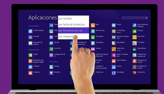 pantalla tactil windows 8