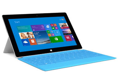 surface 2 azul