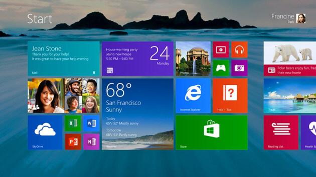 nuevo menu windows 8