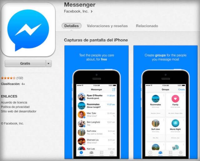 Messenger Facebook App store