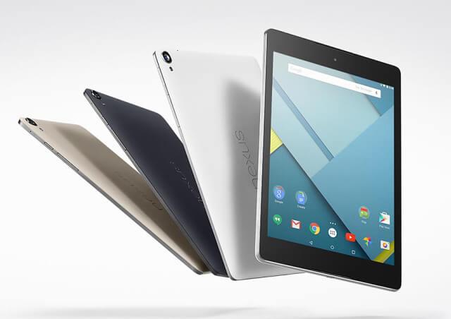 Tabletas Nexus 9-volando