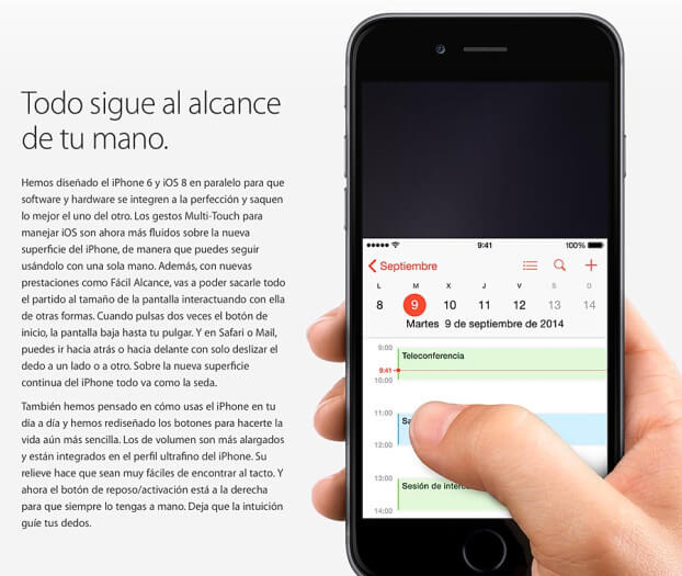 acceso facil iPhone 6