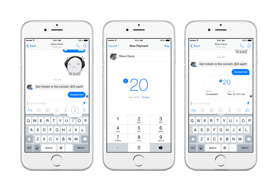 pagos facebook messenger