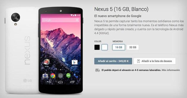 Nexus-5-tienda