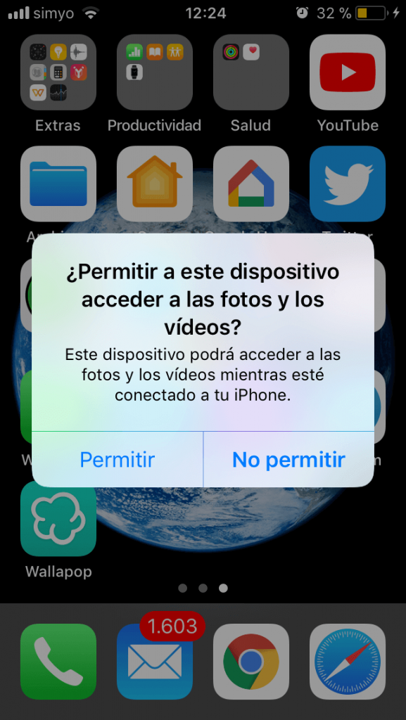 acceso iphone pc