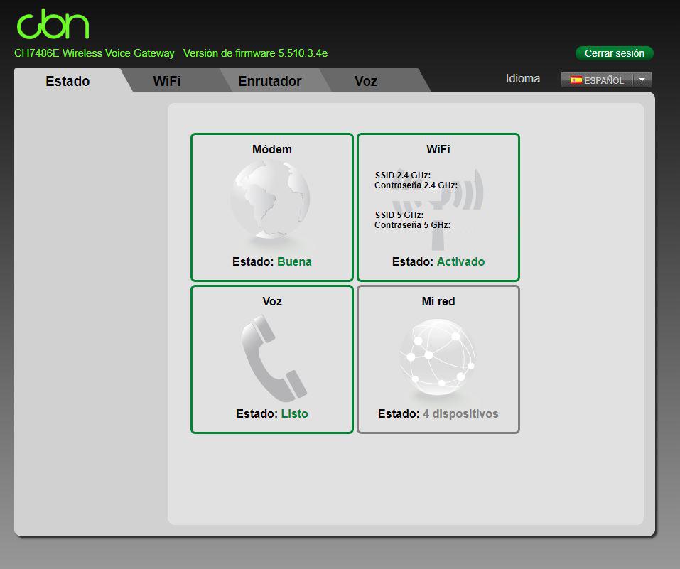 opciones router