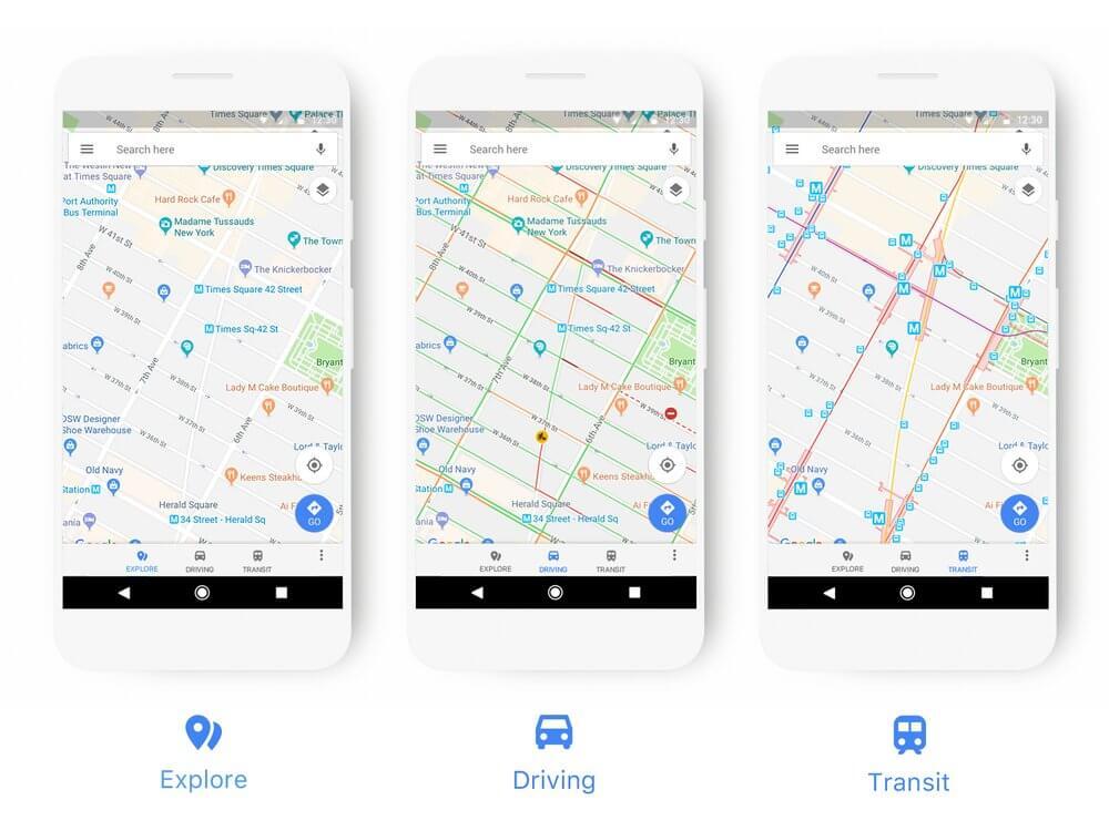 rediseno google maps
