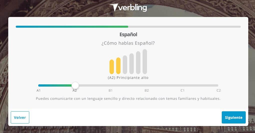 idioma nivel