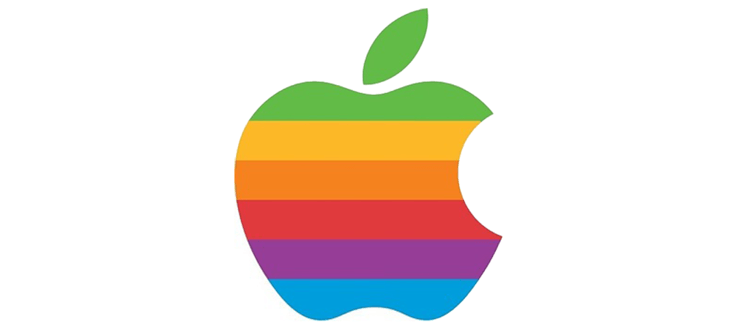 apple logo colores