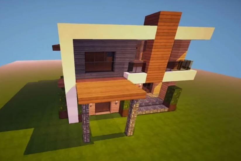 casa mediana para minecraft
