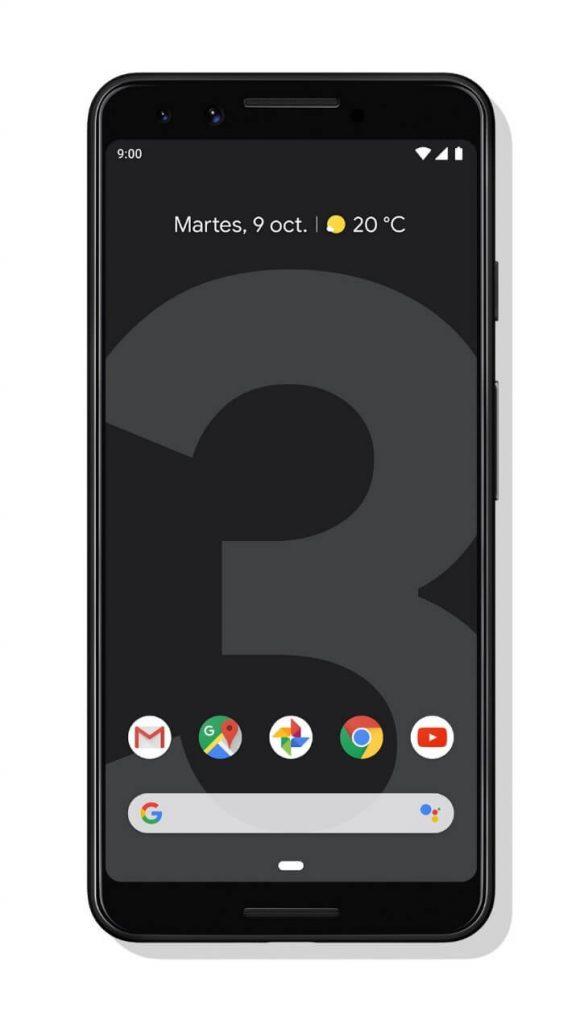 pixel 3 color negro