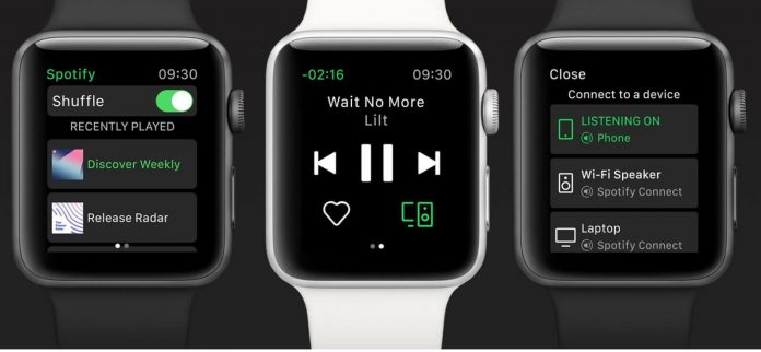 aplicacion spotify para apple watch