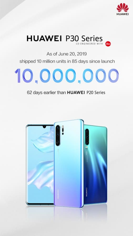 Huawei P30 Series 10 milones de ventas
