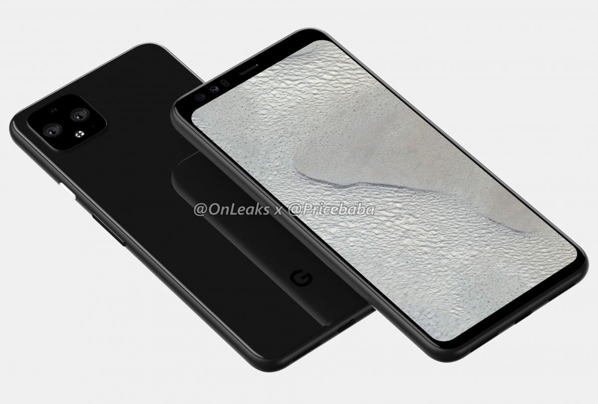 Pixel 4 render 3D frontal 2