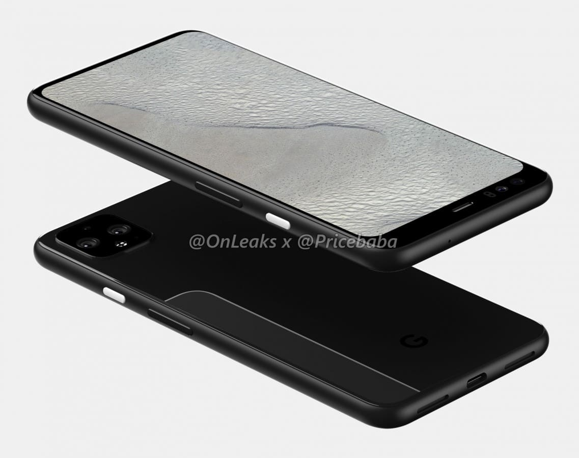 Pixel 4 render 3D frontal 4