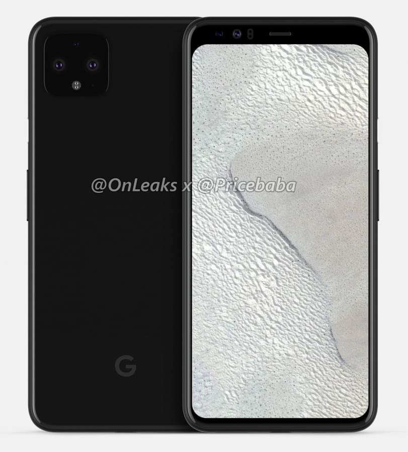 Pixel 4 render 3D frontal