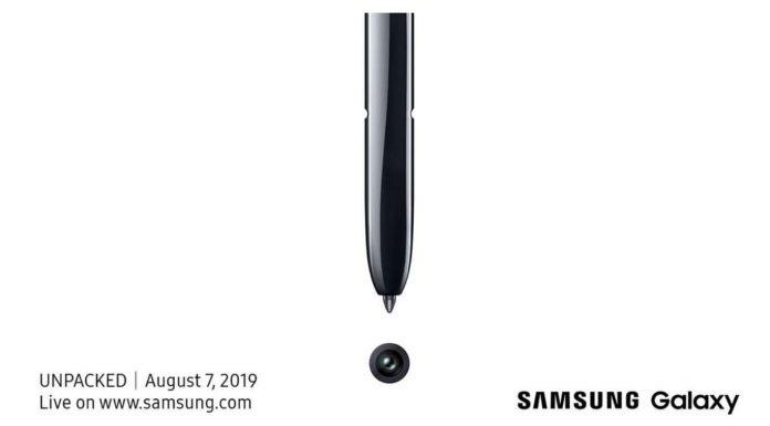 Samsung Galaxy Note 10 presentacion 7 agosto